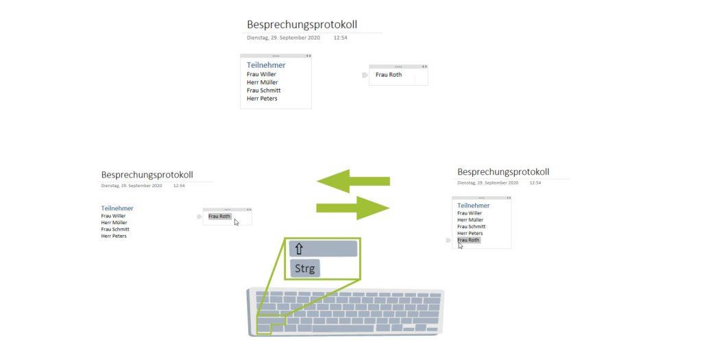 Textcontainer in OneNote trennen und zusammenfügen